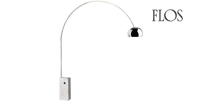 Flos arco flos lampada arco di castiglioni for Lampada a terra flos