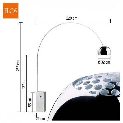 FLOS - Arco Flos lampada Arco di Castiglioni