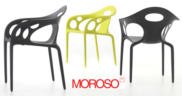 Moroso supernatural sedia potroncina di ross lovegrove for Sedie strane