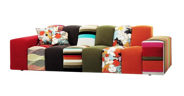 roche bobois missoni home divano componibile rythme. Black Bedroom Furniture Sets. Home Design Ideas