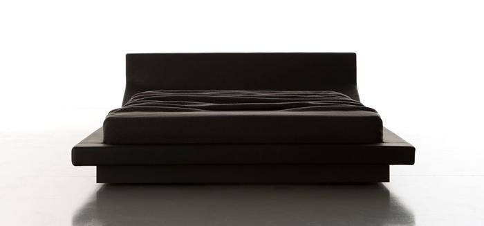 Porro lipla letto con retroletto di jean marie massaud - Letto matrimoniale basso ...