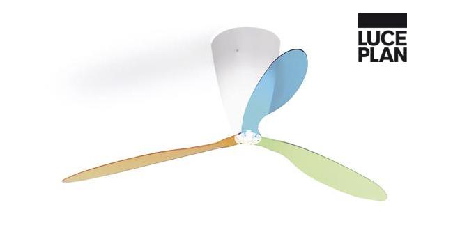 Luceplan blow luceplan ventilatore lampada da soffitto