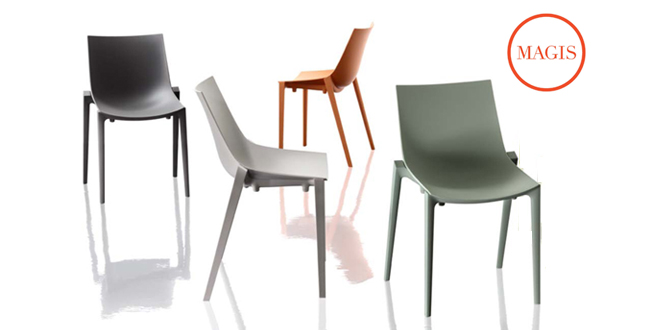 Zartan magis la sedia ecologica di design starck e quitllet
