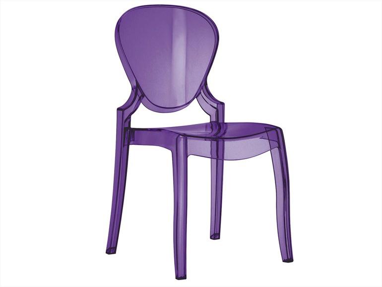 Sedie Plastica Trasparente Prezzi.Pedrali Queen Pedrali Sedia Trasparente In Plastica