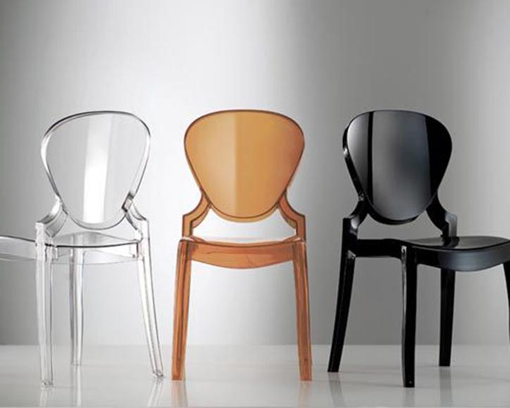 PEDRALI - QUEEN Pedrali sedia trasparente in plastica