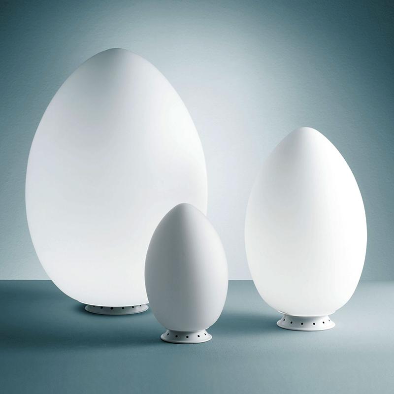 fontana arte uovo fontana arte lampada da tavolo o da terra. Black Bedroom Furniture Sets. Home Design Ideas
