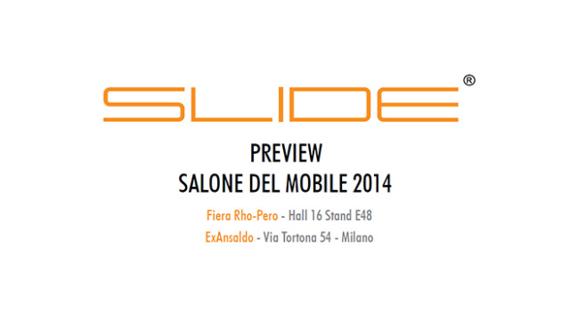 Slide Salone del Mobile 2014