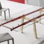 Tracks Bonaldo tavolo allungabile in cristallo