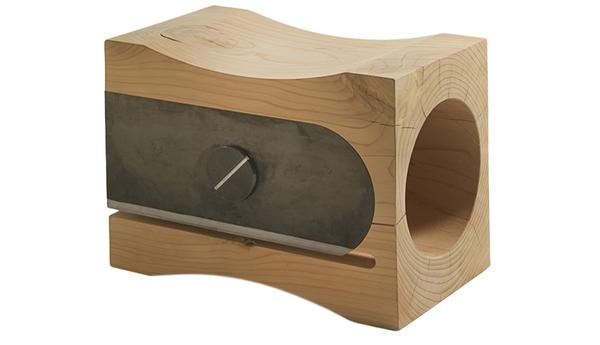 RIVA 1920 - TEMPERINO Riva 1920 sgabello in legno di cedro