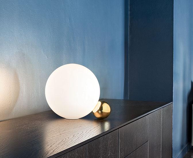 Flos copycat flos lampada da tavolo sfera